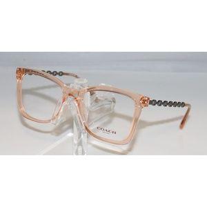 New Coach Transparent Peach Eyeglasses